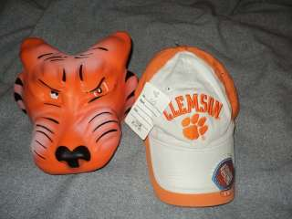Clemson University Fan Foam GRRRRR Head Tiger Hat Used & Baseball