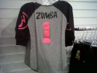 ZUMBA Zweet Baseball Tee Shirt Top from 2012 England Conference