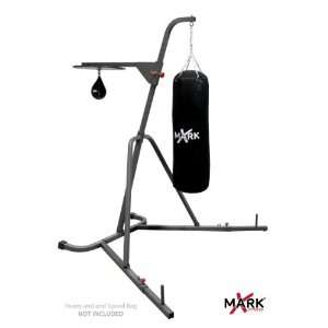 XMark Fitness Deluxe Heavy Bag Stand with Adjustable Speed Bag