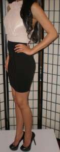 BCBG Max Azria Black Knit Bandage Skirt Small NWT