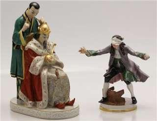 Rare Lot 2 Ornate Bing & Grondahl King Porcelain Figurines 4 Repair