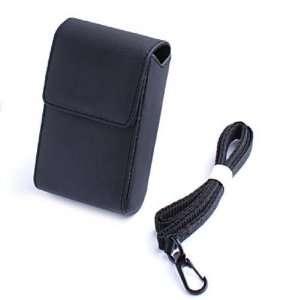 Black Faux Leather Case Cover for Nikon CoolPix Cameras Electronics
