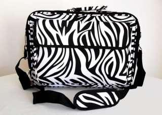 Computer/Laptop Briefcase Travel Luggage Bag Padded Case Black Zebra