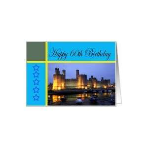 Happy 60th Birthday Caernarfon Castle Card: Toys & Games