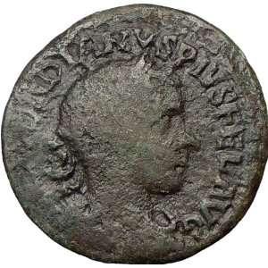 III 241AD Viminacium Genuine Ancient Roman Coin City goddess BULL LION
