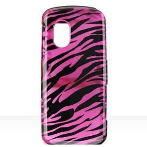 Plum Pink Zebra Snap on Hard Skin Cover Case for Samsung