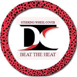Red lady bug steering wheel cover. Beat the heat