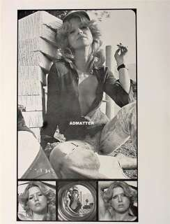 Vintage Pin up Girl Poster Print Sexy Smoking Cigarette