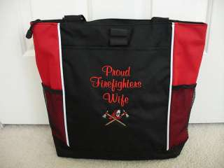 TOTE BAG Personalized Firefighter Fireman Hat Axe Wife
