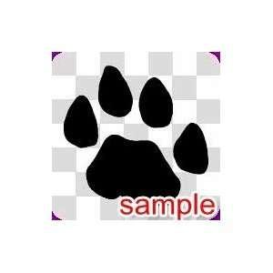ANIMAL PAW PRINT 4 WHITE VINYL DECAL STICKER Everything