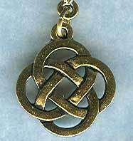 Gold Metal Charms   Celtic Knot Pendant