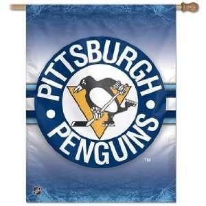 NHL Pittsburgh Penguins Flag   Vertical Alternate Logo *SALE