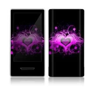 Microsoft Zune HD Decal Skin   Glowing Love Heart