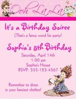 CUSTOM FANCY NANCY BIRTHDAY INVITATIONS OR THANK U CARD