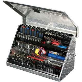 Aluminum Open Top Tool Truck Box Diamond Plate 30x15inDx18 1/8 ME300AL