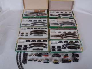 AHM Minitrains HOe HOn 2 1/2 Lot of Locomotives Cars Track