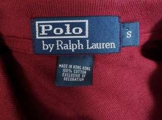 NWT $75 Mens Polo Ralph Lauren Deep Wine Burgundy Polo Shirt Pony New