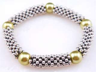 From U.S* Tibetan Silver & Color Beads Crafted Ladys Bangle Bracelet