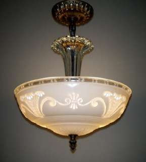 ART DECO CHANDELIER VINTAGE CEILING PENDANT LAMP LIGHT FIXTURE
