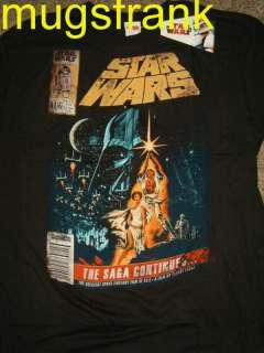 Luke Skywalker Vader Comic Book Cover Star Wars T Shirt