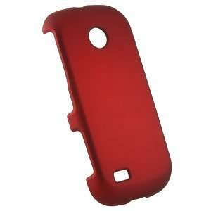 Premium Rubberized Red Snap On Cover for Samsung Eternity