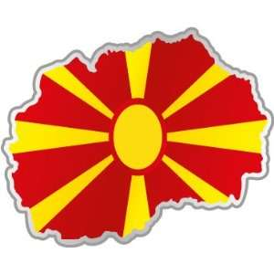 Macedonia Macedonija map flag car bumper sticker decal 5