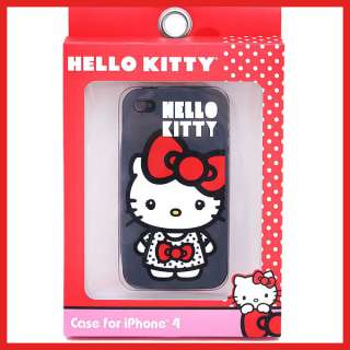 Hello Kitty Apple i Phone 4G Case  Silicone Big Bow