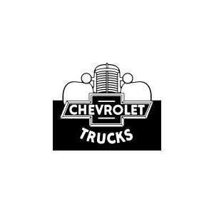 Chevrolet Trucks Logo   General Motors Wood Mounted Red