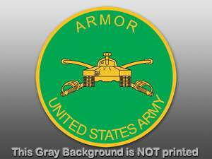 ARMOR Seal United States Army Sticker  decal logo troop