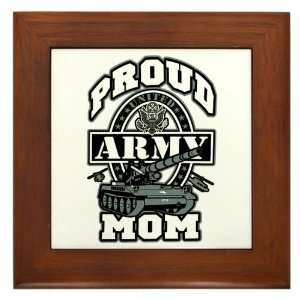 Framed Tile Proud Army Mom Tank