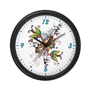 Wall Clock Live Free Birds   Peace Symbol Sign
