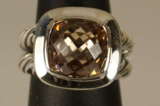 David Yurman 925 Sterling Silver Champagne Citrine Ring