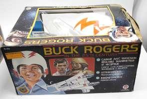1979 Buck Rogers Space Helmet Starfighter & Official Pin +Original Box