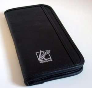 Black Travel Passport Document Credit Card Holder Zips