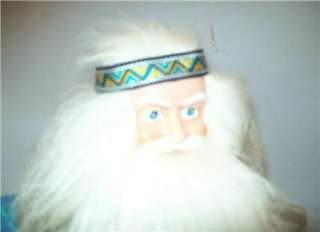 HOME FOR THE HOLIDAYS HIPPIE DOLL HIPPIE SANTA CLAUS DOLL 18