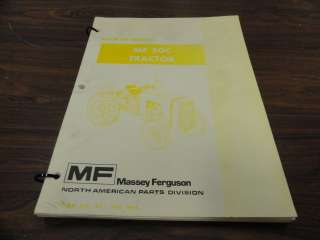 Massey Ferguson MF 50C Tractor Parts Catalog Manual