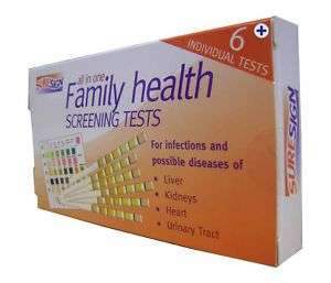 ALL IN 1 FAMILY HEALTH HOME SCREENING URINE TEST STRIPS 5060100930442
