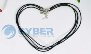 PCS 2mm Black Leather Necklace String Cord Clasps NEW