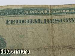 20 DOLLAR LARGE FEDERAL RESERVE NOTE CLEVELAND LARGE 7 G CHICAGO BLUE