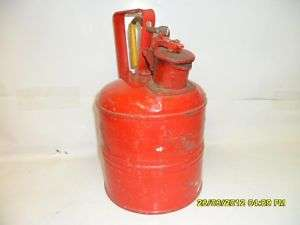 Vintage Justrite Safety Gas/Fuel Can No.2 D&L Thinner