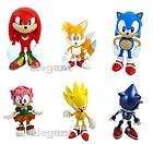 6Pcs Set of SEGA The HEDGEHOG Super Sonic figures Tails Knuckles Amy