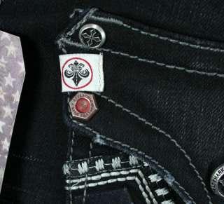 AFFLICTION Jeans Mens ACE Basque flap TARMAC Slim straight leg