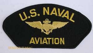 AUTHENTIC US NAVAL AVIATION PATCH USS NAVY PILOT 5 1/4