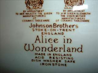 BROTHERS IRONSTONE COLLECTIBLE PLATE ALICE IN WONDERLAND TEA PARTY