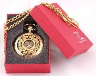 Mechanical 18k Gold Plated Fob Watch Open Back Stunning