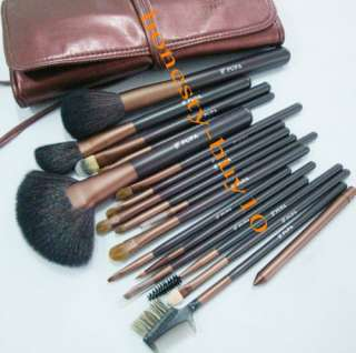 Professional Beauty Natural Wools Makeup Cosmetic Brush Set with Case