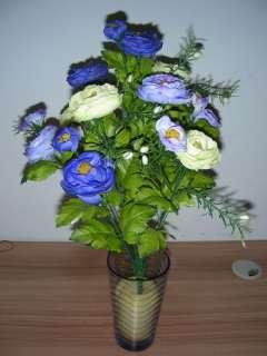 COLORS PINK WHITE BLUE ARTIFICIAL SILK ROSE ARRANGEMENT FLOWER