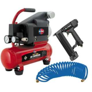 All Power 2HP Peak Air Compressor Wih Nail Gun and Sapler APC4004 a
