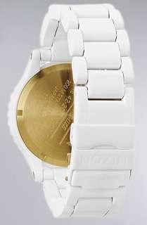 Nixon The 4220 Chrono Watch in All White Gold  Karmaloop   Global