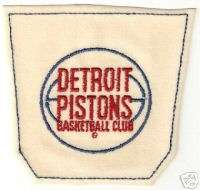 1972 DETROIT PISTONS NBA BASKETBALL JEANS POCKET PATCH
